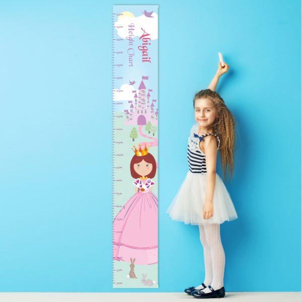 Personalised Fairytale Princess Height Chart