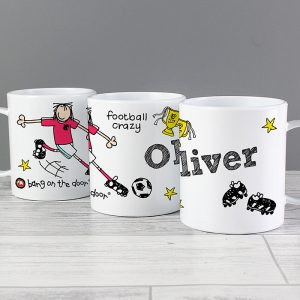 Personalised Football Plastic Mug