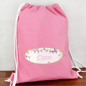 Personalised Girls P.E. Kit Bag