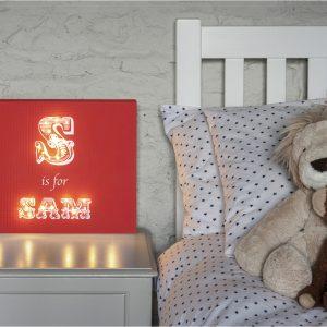 Personalised Illuminated Canvas - Alphabet Boys