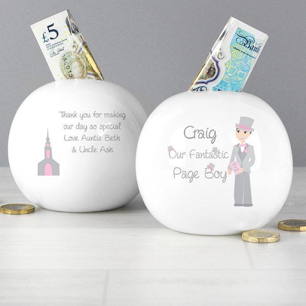Personalised Page Boy Money Box