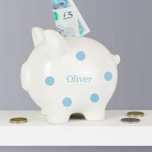 Personalised Polka Dot Piggy Bank