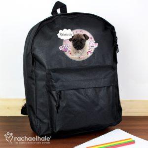 Personalised Pug School Bag