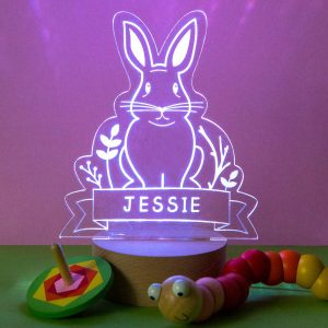 Personalised Rabbit Night Light