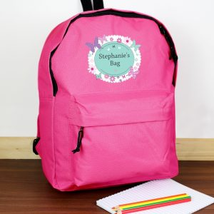 Personalised School Back Pack - Butterfl