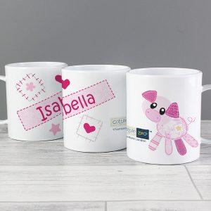 Pig Personalised Plastic Mug