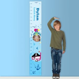 Pirate Personalised Height Chart