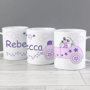 Princess Personalised Plastic Mug