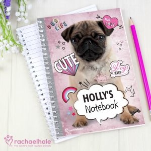 Pug Personalised Notebook