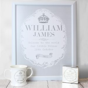 Royal Crown Personalised Framed Print