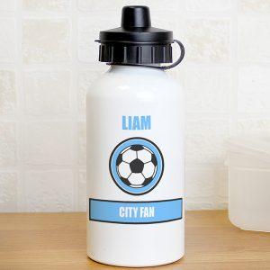 Personalised Sky Blue Water Bottle