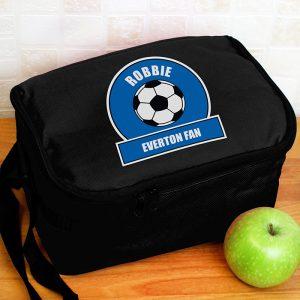 blue football bag lunch box