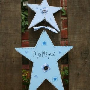 double star handmade sign