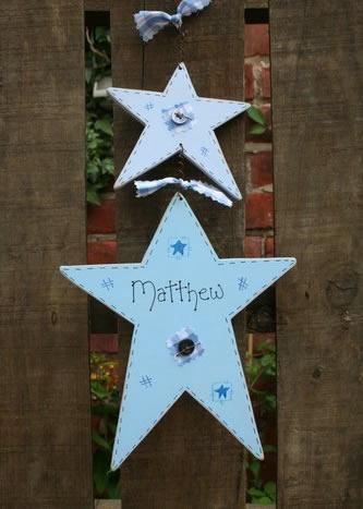 double star handmade sign