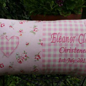 Rosebud Pink Personalised Cushion