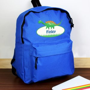 personalised dinosaur school bag