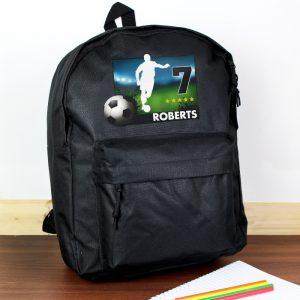 personalised football school bag