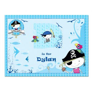 pirate personalised placemat