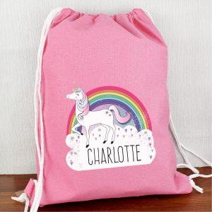 Personalised Unicorn Swim Kit P.E. Bag
