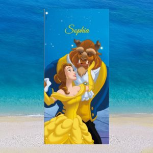 Beauty and the Beast Personalised Beach Towel