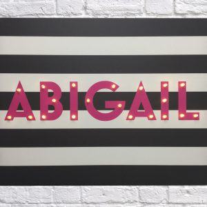 Personalised Canvas with Lights