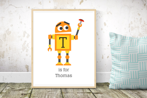 Personalised Robot Printable