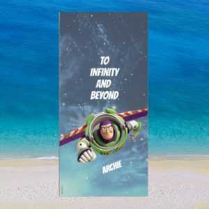 Personalised Buzz Lightyear Beach Towel