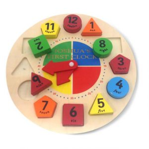 Shape Sorter Learning Clock