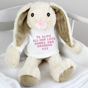 Personalised Bunny Rabbit with message