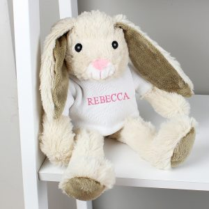 Personalised Bunny Rabbit - Pink Embroidery