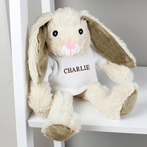 Personalised Bunny Rabbit Name Only Brown
