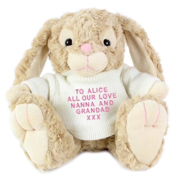 Personalised plush bunny rabbit personalisedkidsgifts personalised negle Gallery