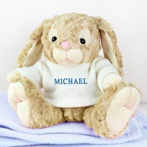 Personalised Bunny Rabbit (Blue)