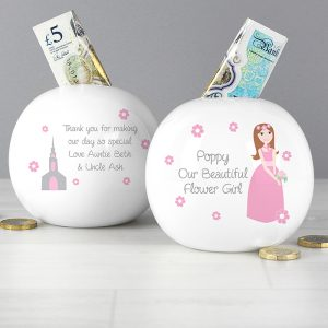 Personalised Flower Girl Money Box