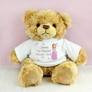 Personalised Flower Girl Teddy Bear