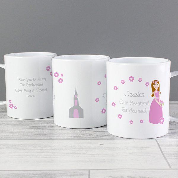 Personalised Little Bridesmaid Plastic Mug