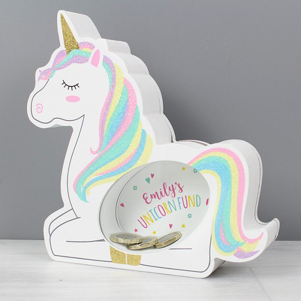 Personalised Unicorn Money Box