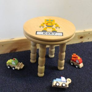 Robot Personalised Wooden Stool