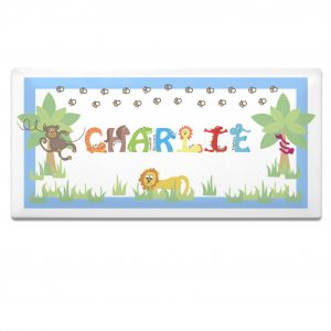 Boys Door Plaque - Animal Alphabet