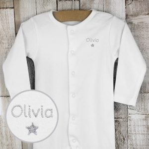 Personalised Baby Grow - Star Design