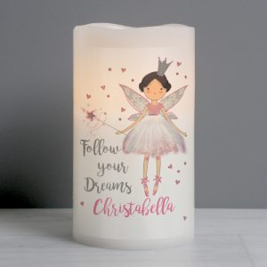 Personalised Fairy Princess LED Night Light Candle
