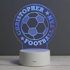 Personalised Football Night Light