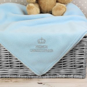 Personalised Prince Baby Blanket