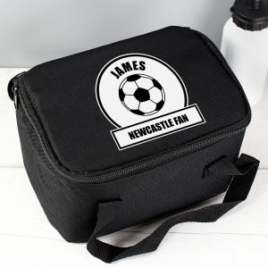 Black & White Football Personalised Lunch Bag