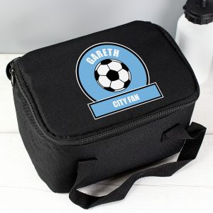 Sky Blue Football Lunch Bag