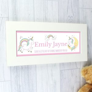 Personalised Unicorn Name Frame