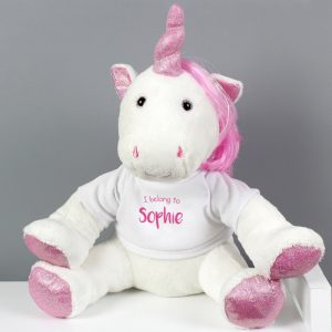 Personalised Unicorn Plush Toy
