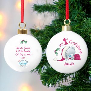 Personalised 1st Christmas Bauble
