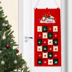 Personalised Advent Calendar - Tartan Santa
