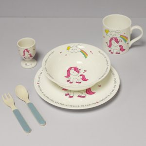 Personalised Unicorn Breakfast Set